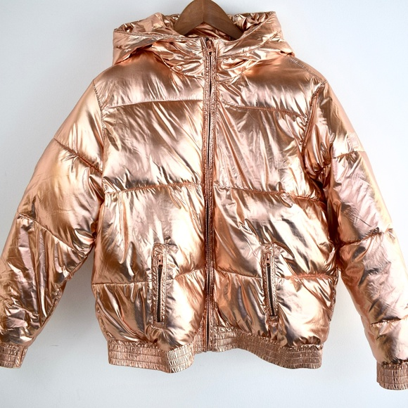 b7c6633cf GAP Jackets & Coats | Rose Gold Metallic Puffer Jacket | Poshmark